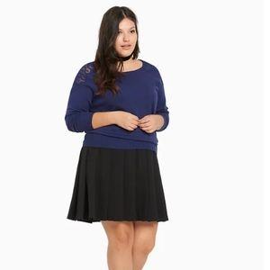 Torrid blue lace shoulder sweater size 4X